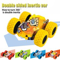 Kid Toys Friction Car Abs 2 Sided Inertia Car Four-wheel Drive Big Foot Toy Off-road Vehicle Children Hot Wheels Stunt Car Toy