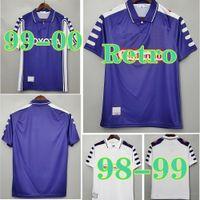 1998 1999 الرجعية فيورنتينا 9 Batistuta Soccer Jerseys 10 Rui Costa مخصص خمر 1992 1993 Florence Home Football Shirt Camisas de Futbol