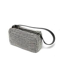 뜨거운 새로운 가방 디자이너 미스 왕 블링 밸리 저녁 가방 여성 반짝이 다이아몬드 이브닝 가방 레이디 반짝이 라인 석 파티 어깨 가방 무료 방울