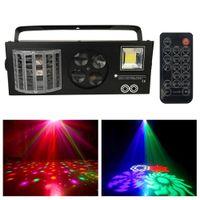 4 in1 дистанционного удаленного лазерной вспышки STROBES DMX512 светодиодный освещение диско Диско DJ Stage свет четыре функции освещения эффект луча движущейся головки