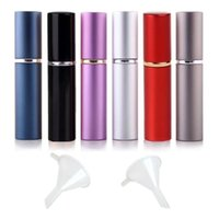 Storage Bottles & Jars 12pcs 6ml Portable Mini Refillable Perfume Scent Aftershave Atomizer Empty Spray Bottle With 2 Funnel Filler For Trav