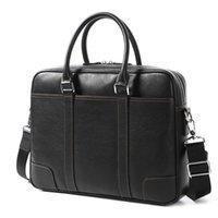 2020 جلد طبيعي حقيبة الرجال حقيبة يد القسم عبر الكمبيوتر حقيبة الكمبيوتر حقيبة الكمبيوتر المحمول