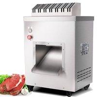 220V elektrische vollautomatische kommerzielle fleisch slicer automatische zerrissene fleisch schneidemaschine slicer würfmaschine 550kg / h