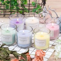 아로마 테라피 촛불 무연 향기로운 촛불 투명 유리 촛불 선물 상자 발렌타인 데이 선물 결혼식 장식 HWD4962