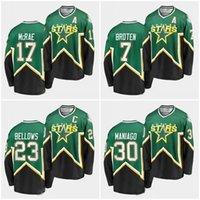 ABN 7 Neal Broten Minnesota stelle Retro hockey jersey 23 Brian Blows 17 Basil McRae 30 Cesare Maniago 15 Bobby Smith Jerseys