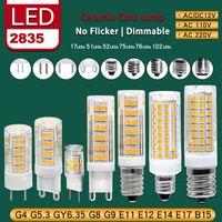 G4 G9 G5.3 GY6.35 G8 E11 E12 E14 E17 B15 Dimmable LED светодиодные лампы керамические мозоли фонари без мерцания 2835SMD лампы лампы лампы AC 110 220V 360 угол с низким энергопотреблением