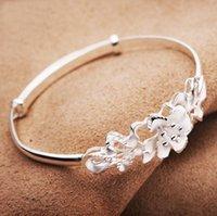 Nova rosa flor mulheres pulseira 925 esterlina prata pulseira de casamento encantos carter jóias rosa pulgles ps2972