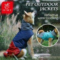 FENICE водонепроницаемый светоотражающий плащ ветрозащитный куртка для собак Открытый общий комбинезон с капюшоном одежда для домашних животных Accesories Q0305