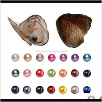 Jewelry Drop Delivery 2021 Round Oyster 6-7Mm 20 Mix Color Big Fresh Water Gift Diy Natural Pearl Loose Beads Decorations Vacuum Packaging X8