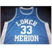 Goodjob Erkekler Gençlik Kadın Vintage Düşük Merion # 33 K B Üniversite Basketbol Forması Boyutu S-6XL veya Özel Herhangi Bir Ad veya Numara Forması