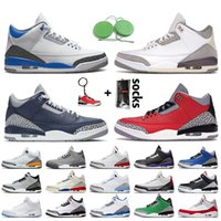 Nike Air Jordan 3 Retro 3 3s Jumpman Herren-Basketball-Schuhe 3s Laser orange Retro UNC Red Cement Varsity Königs Fragment SEOUL Katrina Trainer Männer Sport-Turnschuhe