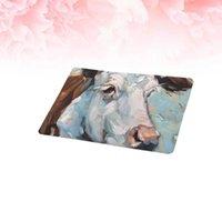 Tappeti 1 pz pittura a olio tappetino da pavimento animale assorbente antiscivolo pad tappeto porta artistico per la casa EL (modello 1 40x60 cm)