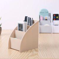 Hooks & Rails Plastic TV Remote Control Storage Holder Mobile Phone Stand Washable Home Office Boxes Desktop Case