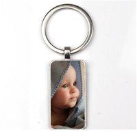 شخصية المعلقات صور مخصص مستطيل المفاتيح صورة من طفلك الطفل أمي أبي الجد أحب هدية العائلة jllmyz