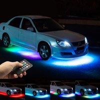 Niscarda Müzik Uzaktan Kumanda RGB LED Şerit Araba Tüp altında Underglow Underbody Sistemi Neon Işık DC12V IP65 5050 SMD