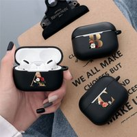 Cute Floral Gold Initial alphabet Letter AirPods Case For Airpod Pro Cases Silicon Wireless Earphone Cover Air Pods TPU Capa