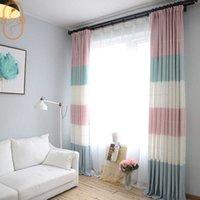 Простая современная мода геометрия картина занавес для гостиной спальни съемки форт полосатый на заказ Средиземноморский стиль 210712