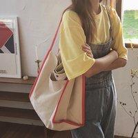 Youda جديد قماش التسوق أكياس للنساء 2021 سعة كبيرة حقائب اليد التقليدية حقيبة كتف السيدات أزياء الكورية كتاب حقائب اليد