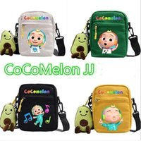 28 Styles Cocomelon JJ Fanny Pack Bags Kids Cute Cartoon Crossbody with Plush Doll Pendant Key Holder Shoulder Bag Travel Sport Tote FY2410