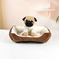 غرامة الفرح الكلب بطانية سرير أرائك للكلاب الكبيرة منزل أريكة بيت الكلب الدافئ كلب جرو بيت الكلب الحيوانات الأليفة اللوازم القطن وسادة سرير