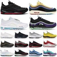 air max 97 airmax 97 97s Hotsale 97 Sean Wotherspoon mens sapatos Air Max mulheres ao ar livre Jesus brilhante Citron Triplo Negros 97s treinadores desportivos sneakers