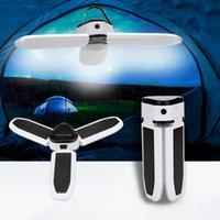Lanterne portatili Led Led Ricaricabile Solar Night Light Light Outdoor Luci di Emergenza Pieghevole da campeggio Lampada Tenda da campeggio Home Yard Garden E27 Plug Bulbo