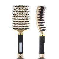 Hair Brushes Girls Scalp Massage Comb Hairbrush Bristle Nylon Women Wet Curly Detangle Brush For Salon Hairdressing Styling Tools