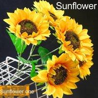 장식 꽃 화환 시뮬레이션 해바라기 태양 꽃 웨딩 홈 거실 장식 가짜 촬영 소품