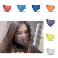 Bling Rhinestone Face Mask Jewlery for Women Body Jewelry Night Club Decorative Jewellery party designer masks 1714 T2