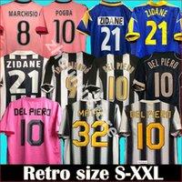 Classic Retro Juve del Piero Fussball Jersey 84 85 92 95 96 97 98 99 02 03 11 Zidan Antike Maillot Davids Oldest Shirt Marchisio Ibrahimovic