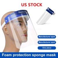EU estoque face face máscara anti-nevoeiro isolamento de máscaras de proteção completa com faixa elástica esponja headband hd transparente protecção pet fy8017