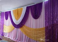 Party Decoration 10ft*20ft Luxury Wedding Backdrop Curtain With Bling Shiny Sequin Swags And Drapes Stage Background Pleated