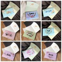 Greeting Cards 50pcs Rustic Invitation Decor DIY Gifts Wedding Supplies Thank You Card Happy Birthday Handmade