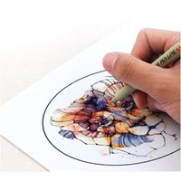 Liner Pigment Micron Pen Neelde Escova Macia Drawing Pen Lot 005 01 02 03 04 05 08 1.0 pincel marcadores de arte f jllkpl