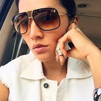 Sunglasses 18K Gold Plated Square Men Women Couple Flat Top Design Driving Sun Glasses Shades Brad PiEyewear