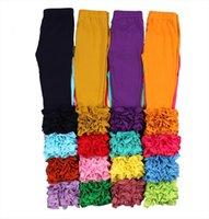 Bambino Boutique Full lunghezza Girls leggings Solid carino 100% cotone glassa a glassa per bambini bambini pantaloni