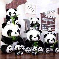 La venta directa de la muñeca gigante se puede agregar juguetes de peluche Panda