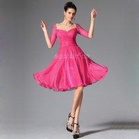 Bridesmaid Dress Short Prom With Half Sleeves 2021 Crystal Scoop Vestidos De Baile Sheer Top Party Graduation Sexy Sweetheat
