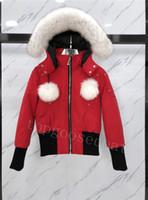 2021 Erkekler ve Wemen Gerçek Kurt Kürk Yaka Aşağı Ceket Palto Sıcak Kış Mont Dış Giyim Ceketler Parkas Kanada Knuckles JD03