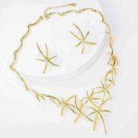 Vienois starfish Multi Color Cross Ocean Star Серьги Серьги Ожерелья Наборы для женщин Дубай Золотая Ювелирные Изделия Набор Подарки Партии