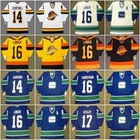 Vancouver Canucks Vintage Hóquei Jersey 14 Alexandre Burrows 1970's Courtnall Ryperson 16 Trevor Linden 17 Ryan Kesler 18 Darcy Rota 1984