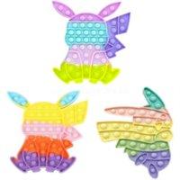 DHL shipping Push Bubble Fidget Toys Rabbit Puzzle Tabletop Decompression Board toys Finger Sensory Educational Toys