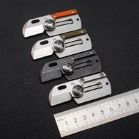 Mini folding knife outdoor camping D2 stainless steel high hardness pocket knives EDC safety defense tools HW498