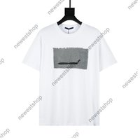True taille Designer Luxe Classic Impression T-shirts Hommes Femme Couleur Solide Cartoon Casaul Coton Street T-shirt Version supérieure T-shirt
