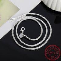 Ketten 925 Sterling Silber 16/18/20/22/24 Zoll 3mm Snake Kette Halskette Colar de Prata für Frau Mann Mode Charme Hochzeit Schmuck Geschenk