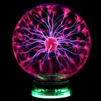 ノベルティガラスマジックプラズマボールインチテーブルライト球ナイトライトキッズクリスマスマジックプラズマナイトランプホット2021