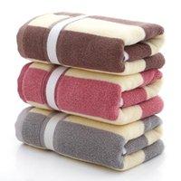 Toalha pura toalhas xadrez de algodão casa uso diário absorvente não derramar face adulto lavagem el