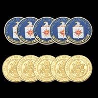5 pz Arti e mestieri USA CIA Agenzia di intelligence centrale militare Lo United States Challenge Metal Coin Coetribles Valore