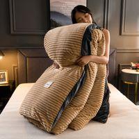 Novo 4 pcs cor lisa espessa flanela de cama quente conjunto de veludo tampa de edredão folha de cama fronhas de cama home cama de cama 72 s2