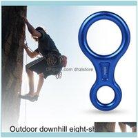 Cordas, Camping Caminhadas Esportes OutdoorsCords, Slings and Webbing Rock Climbing 8-Forma Oito Anel Ring Abseiling Dispositivo 35kn Descendente Belay Rapp